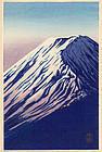 Shien Japanese Woodblock Print - Mount Fuji SOLD