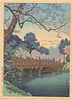 Koitsu Woodblock Print - Benkei - Takemura SOLD
