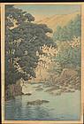 Kawase Hasui Woodblock Print - Izu 1936 - 1st Edition
