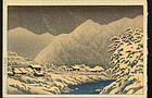 Kawase Hasui Woodblock Print - Hida 1924 1st ed.