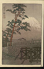 Kawase Hasui Woodblock Print - Kawai Bridge SOLD