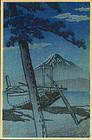Kawase Hasui - Japanese Woodblock Print - Miho