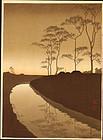 Shoda Koho Japanese Woodblock Print - Canal