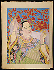 Paul Jacoulet Japanese Woodblock Print - Les Perles