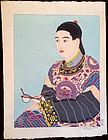 Paul Jacoulet Japanese Woodblock Print - Le Mandarin
