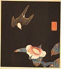 Jakuchu Ito Woodblock Print - Swallow and Camellia SOLD