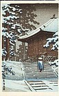Hiraizumi Konjiki-do Japanese Woodblock Print