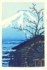 Kawase Hasui Woodblock Print - Mt. Fuji in Winter