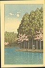 Hasui Woodblock Print - Springtime Forest SOLD