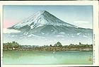 Tsuchiya Koitsu Woodblock Print - Mt. Fuji Kawaguchi