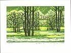 Fumio Fujita Woodblock Print - Sparkling Green SOLD