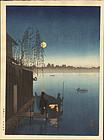 Eijiro Japanese Woodblock Print - Hasegawa - Sumida