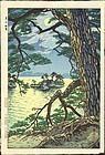 Shiro Kasamatsu Woodblock Print - Matsushima SOLD