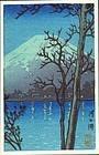 Kawase Hasui Woodblock Print - Lake Kawaguchi SOLD