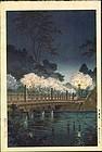 Tsuchiya Koitsu Woodblock Print - Benkei Bridge