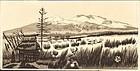 Gihachiro Okuyama Japanese Woodblock Print - Mountains