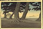 Kawase Hasui Woodblock Print  Kaiganji SOLD