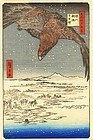 Hiroshige Japanese Woodblock Print - Eagle Over Plain