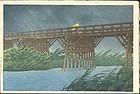 Hasui Kawase Woodblock Print - Imai Bridge SOLD