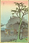 Takahashi Shotei Woodblock Print - Morning Mist SOLD
