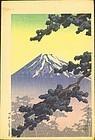 Hasui Kawase Woodblock Print - Sacred Mountain SOLD