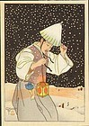 Paul Jacoulet Japanese Woodblock Print - Nuit de Neige
