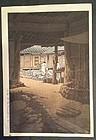 Kawase Hasui Woodblock Print -Mt. Chiri, Korea 1st ed. SOLD