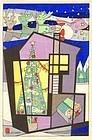 Hodaka Yoshida Japanese Woodblock Print - Christmas SOLD
