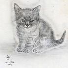 Leonard Tsuguharu Foujita - Rare 1929 Etching - Cat