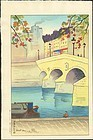 Shungo Sekiguchi Japanese Woodblock Print - Pont Mari