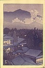 Kawase Hasui Woodblock Print - Village in The Evening SOLD