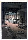 Kawase Hasui Woodblock Print -Mt. Chiri, Korea.