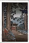 Tsuchiya Koitsu Japanese Woodblock Print - Nikko Futarasan