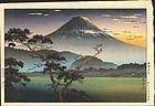 Tsuchiya Koitsu Japanese Woodblock Print - Mt. Fuji From Lake Sai