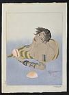 Paul Jacoulet Woodblock Print - Femme Tatouée de Falalap - 1st edition