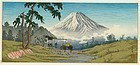 Takahashi Shotei Japanese Woodblock Print - Otome Mountain Pass