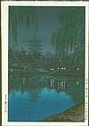 Tsuchiya Koitsu Woodblock Print - Nara Sarusawa Pond - Pre-War