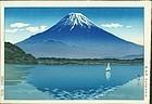 Tsuchiya Koitsu Woodblock Print - Fuji From Lake Shoji SOLD