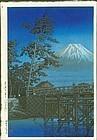 Kawase Hasui Japanese Woodblock Print - Moonlight Kawaibashi 1st ed.