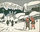 Kiyoshi Saito Japanese Woodblock Print  - Shovels SOLD