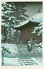 Hiraizumi Konjiki-do Japanese Woodblock Print SOLD