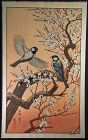 Toshi Yoshida Japanese Woodblock Print - Birds in Spring