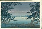 Kawase Hasui Japanese Woodblock Print - Takehara, Matoba - 1st edition