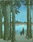 Shoda Koho Japanese Woodblock Print - Ueno Park- Hasegawa Night Scenes