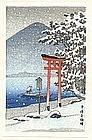 Kawase Hasui Japanese Woodblock Print - Chuzenji, Nikko