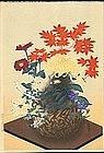 Ohno Bakufu Woodblock Print - Flowers (Autumn)