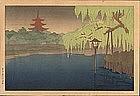 1920s/30s Nara Woodblock Print - Publisher Takemura