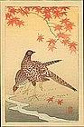 Ohara Koson Woodblock Print - Pheasants - Pre-1936