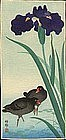 Ohara Koson Rare Woodblock Print - Birds/Iris SOLD