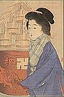 Takeuchi Keishu Woodblock Print - Bijin - 1911 SOLD